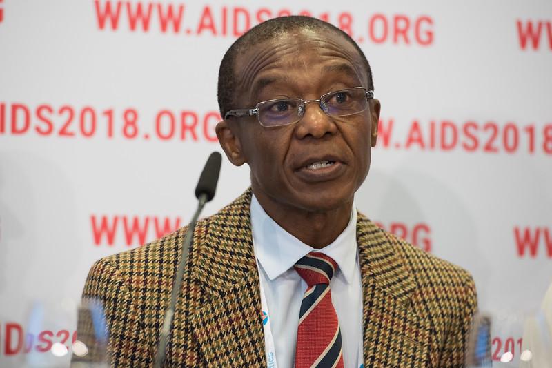 22nd International AIDS Conference (AIDS 2018) Amsterdam, Netherlands   Copyright: Marcus Rose/IAS  Photo shows: Press Conference: Sub-Saharan Africa: New Insights, New Impact. Moeketsi Joseph Makhema CEO, Botswana Harvard Aids Institute