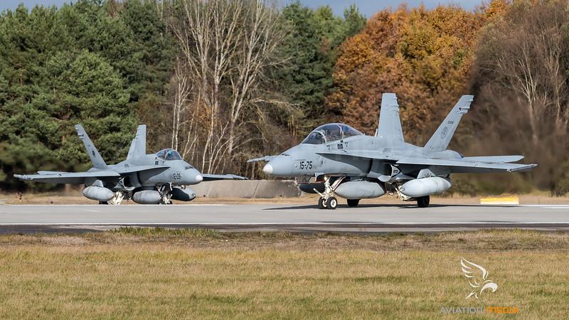 Spanish Air Force Ala 12 & 15 / McDonnell Douglas EF-18A+ & B+ Hornets / CE.15-06 15-75 & C.15-51 12-09