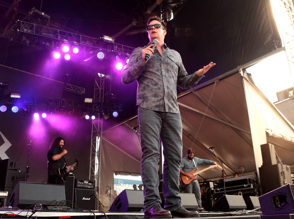 ". Comedian Jim Breuer performs in concert during Day 1 of the Rock Allegiance Festival at Talen Energy Stadium on Saturday, Sept. 17, 2016, in Chester, Pa. Breuer will be at Hilarities 4th Street Theatre on April 21 and 22. For more information, visit <a href=""http://www.pickwickandfrolic.com/2013/04/jim-breuer/\"">pickwickandfrolic.com/2013/04/jim-breuer</a>.(Photo by Owen Sweeney/Invision/AP)"