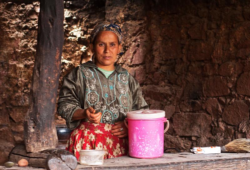 Berber Woman in High Atlas Mountains