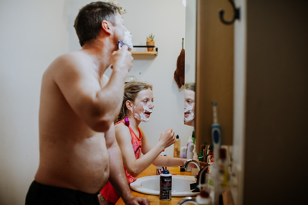 Shaving with Dad