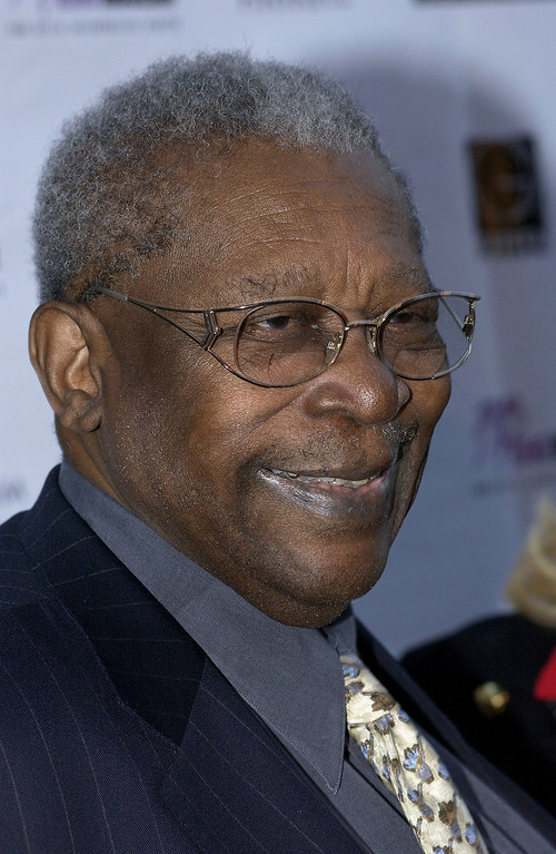 . Musician B.B. King arrives at his 80th birthday celebration at the home of Sam and Mary Haskell on September 20, 2005 in Encino, California. (Photo by Amanda Edwards/Getty Images)