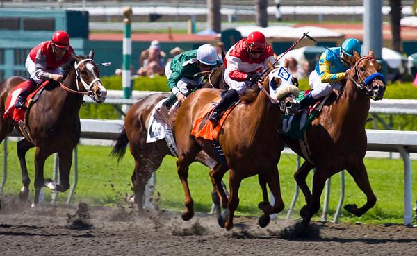 Santa Anita Horse Racing - during good weather!