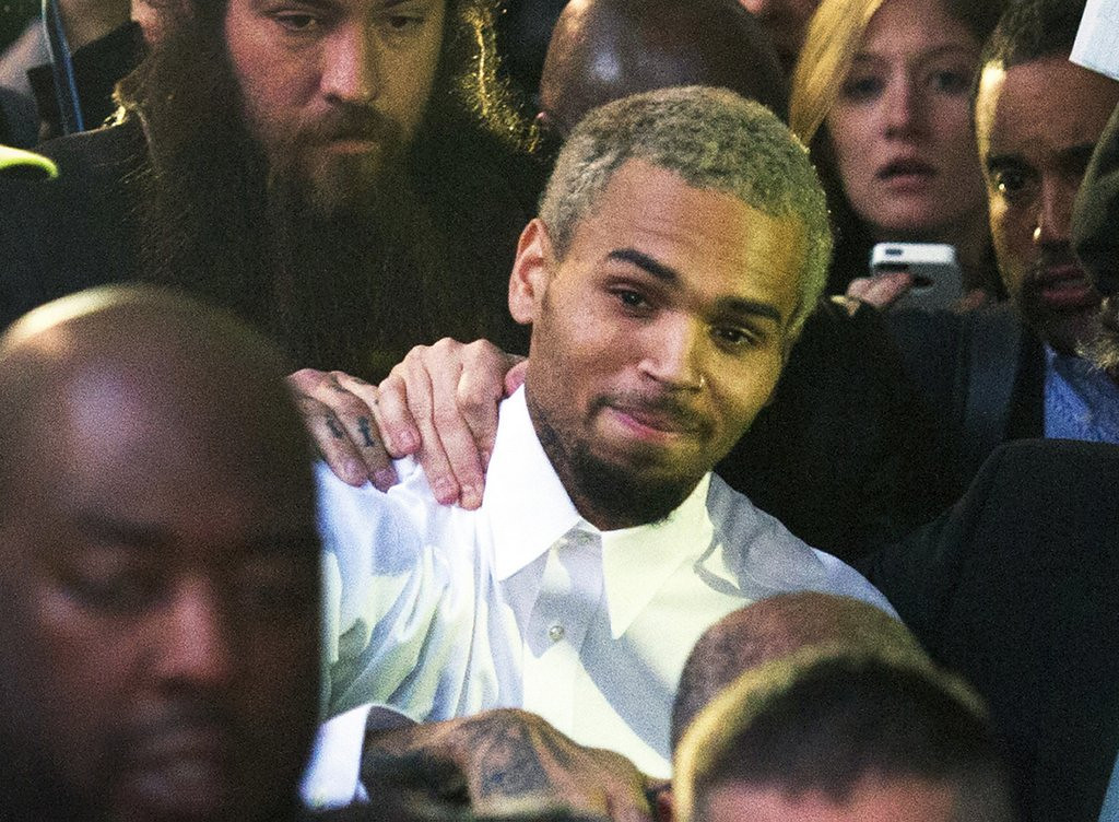 ". <p>17. CHRIS BROWN <p>In a sign of growth, no longer limits his assault and battery to women. <p><b><a href=\'http://www.tmz.com/2013/10/27/chris-brown-arrested-felony-assault-washington-dc/\' target=""_blank\""> HUH?</a></b> <p>    (AP Photo/Cliff Owen, File)"