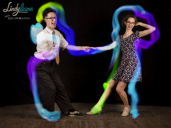 Lindylicious 2017 - light painting photobooth