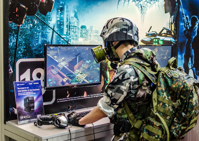 Typical Russian gamer at Igromir 2012