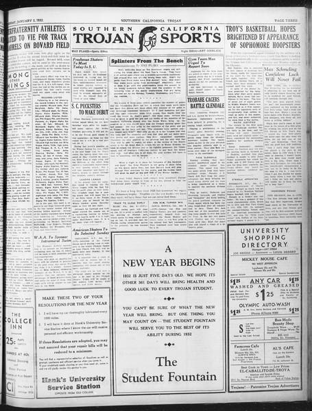 Daily Trojan, Vol. 23, No. 67, January 05, 1932