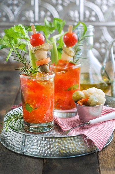 Cherry Tomato Muddled Bloody Mary