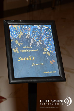 11 . 23 . 18 - Sarah's Sweet 16 - CANDIDS
