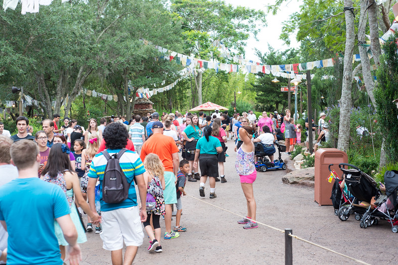 Jungle Book Crowds - Disney's Animal Kingdom, Walt Disney World