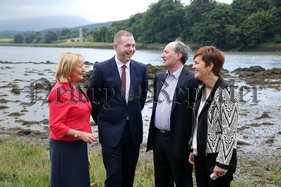 Transport Minister, Chris Hazzard in Warrenpoint to discuss Narrow Water Bridge project