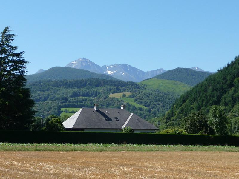 That peak is Tourmalet. Location - outside Bagneres de Bigorre