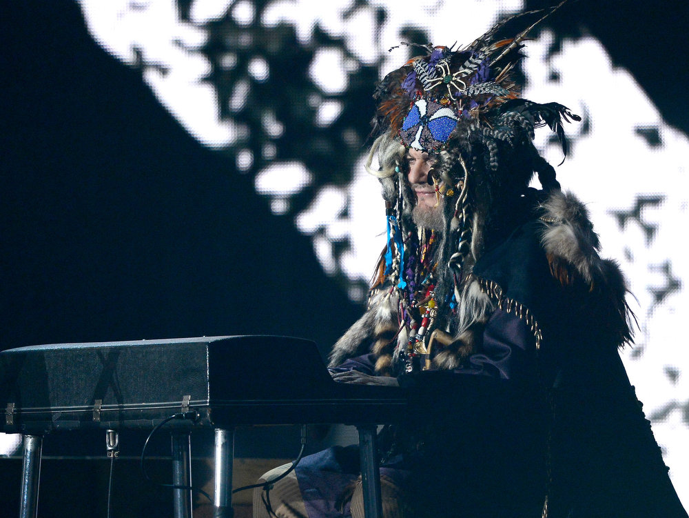 Description of . Musician Dr. John performs onstage at the 55th Annual GRAMMY Awards at Staples Center on February 10, 2013 in Los Angeles, California.  (Photo by Kevork Djansezian/Getty Images)