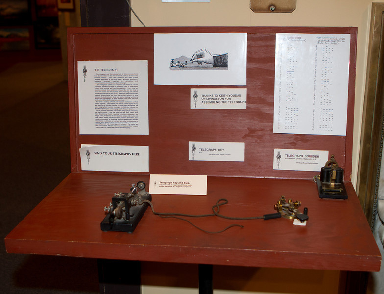 A telegraph set - part of a working demonstration