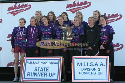 Girl's D2 Awards - 2011 MHSAA LP XC Finals