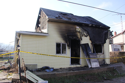 Aftermath of Fatal Fire, Schuylkill Road, East Brunswick Township (11-23-2012)
