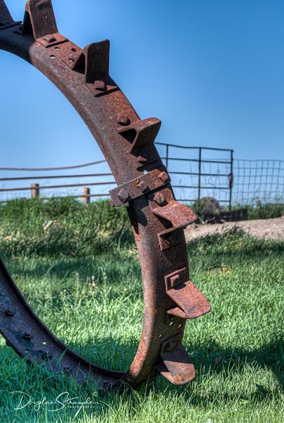 Old-school tractor wheel