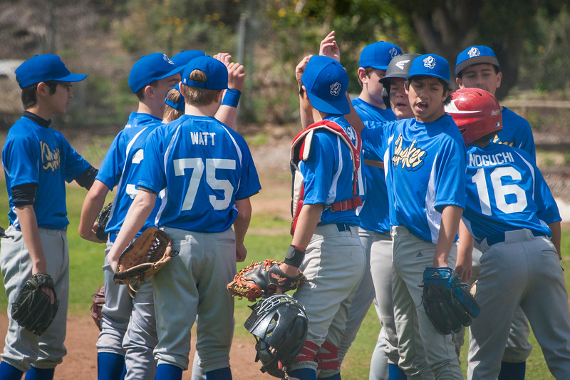 Riviera Little League Juniors Quakes take on Harbor City at Henderson Complex in San Pedro, Sunday March 18, 2018. (Photo by Tom Sorensen/Moovieboy Pictures)