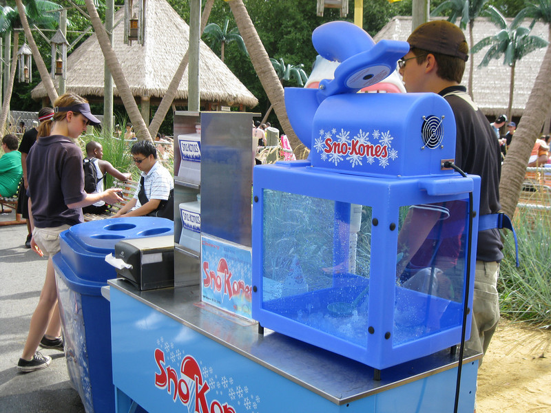 Another Sno Kone machine outside Castaway Island. Ice is shaved to order.