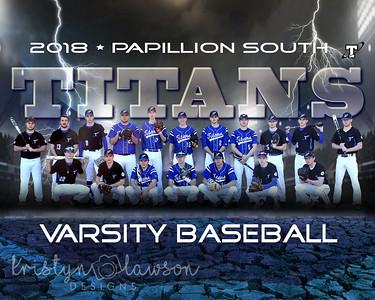 Titans Baseball Seniors 2018