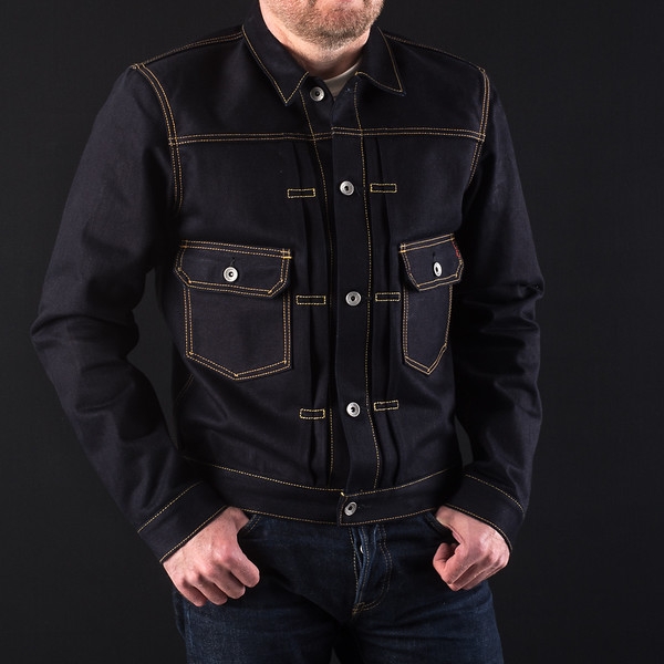 Indigo-Indigo 18oz Raw Selvedge Denim Type ll Jacket-27006.jpg