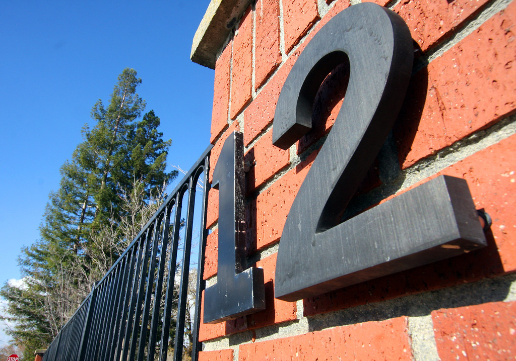 . Number 12 street address in Pleasanton, Calif. on Dec. 12. 2012.  (Jim Stevens/Staff)