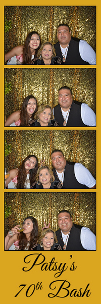 Patsy's 70th Bash, July 20th, 2019 in Santa Barbara, California at the Kimpton Canary Hotel with ThoughtBox Photo Booth. Great food, drink, music an