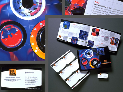 Dials and print collateral photographed for TNT Distributors.