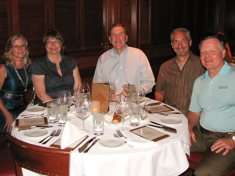 Howard's retirement dinner.  Debbie Butler, Janell Lipton, Tom Ebbers, Steve Lipton, Jim Butler.