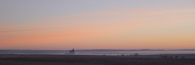 Foggy North Dakota Sunrise