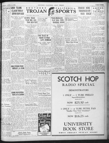 Daily Trojan, Vol. 23, No. 124, April 13, 1932