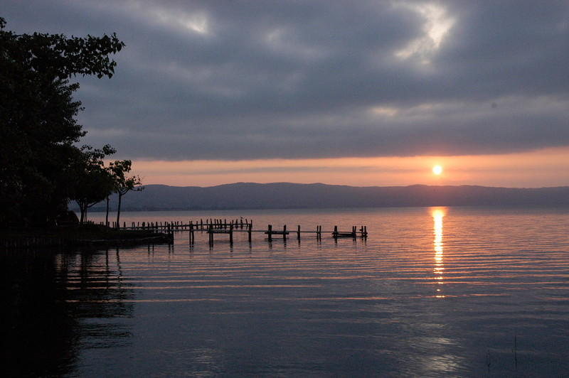 Lake Bolsena as the sun goes down