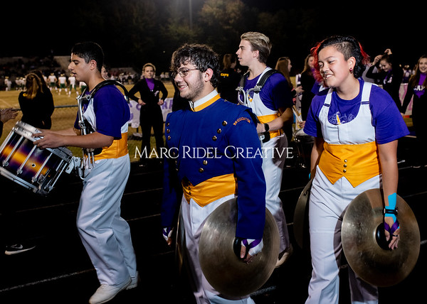 Broughton varsity football vs Cardinal Gibbons. Band and Dance Team Senior Night. October 25, 2019. MRC_3875