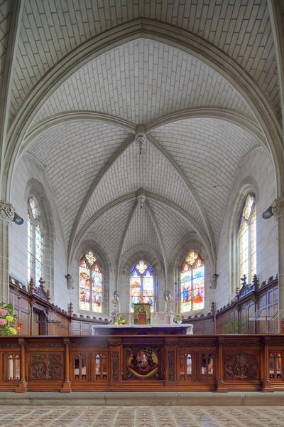 Saint-Goustan church, town of Auray, departement of Morbihan, Brittany, France