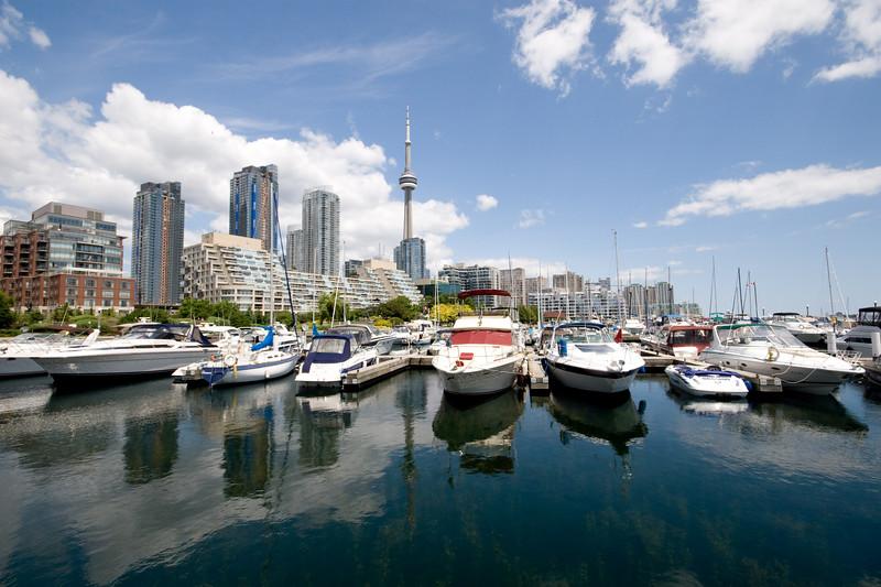 Toronto Skyline From Marina Quay