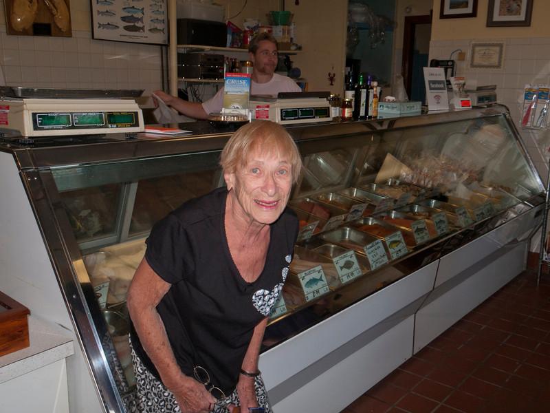 Mom at Rowands Fish store