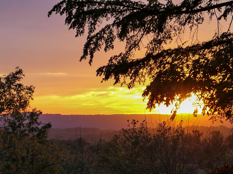 Sunset at Ledges Overlook in Cuyahoga Valley National Park