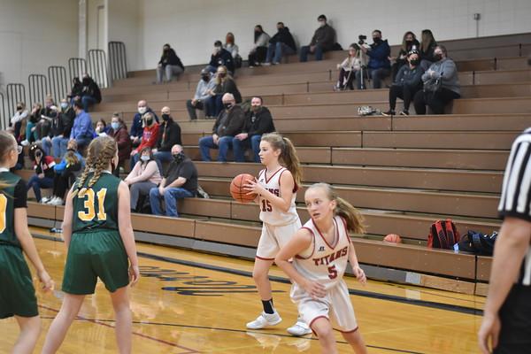 7th grade girls basketball vs. Gretna
