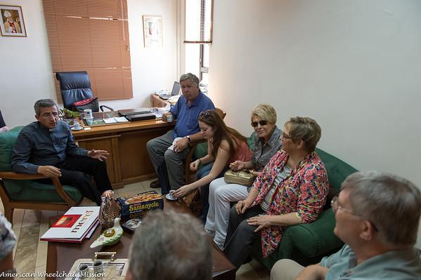 Visit to Caritas and Bishop of Jerusalem