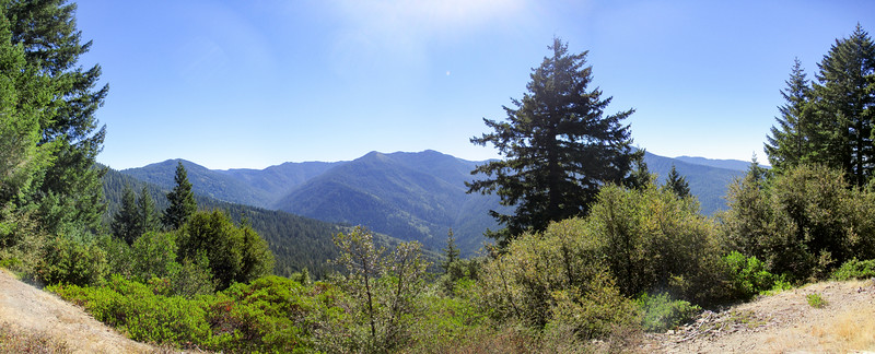 Great view to the south along Bear Camp Road.