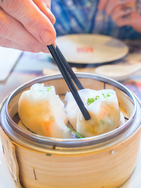 lobster and asparagus dumpling with chopsticks.jpg