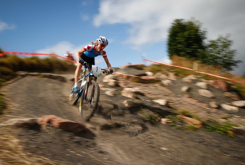 Catharine PEndrell of Canada in the Womens Cross Country Cycling Mountain Bike