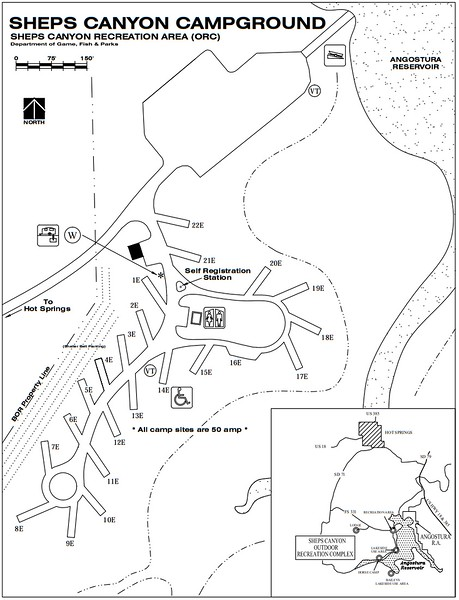 Sheps Canyon Recreation Area (Campground Map)