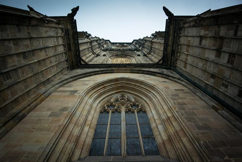 Gargoyles surround church