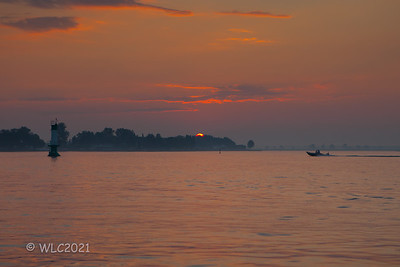 Warm Summer Morning On Lake St. Clair