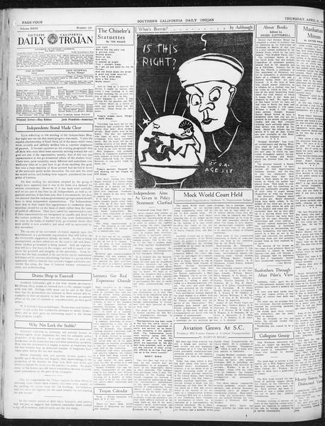Daily Trojan, Vol. 23, No. 130, April 21, 1932