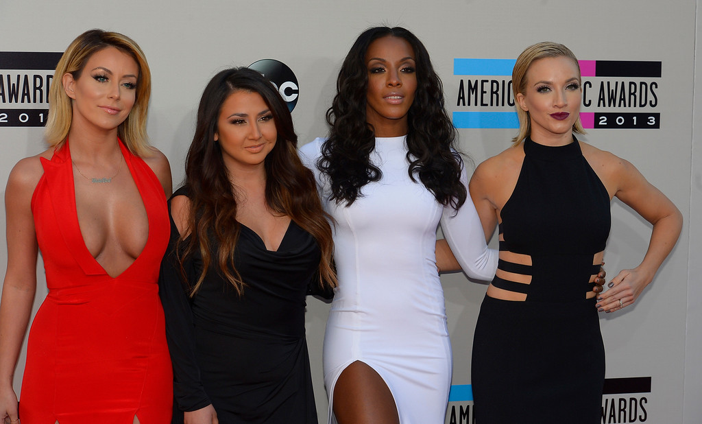 . Danity Kane arrives to the American Music Awards  at the Nokia Theatre in Los Angeles, California on Sunday November 24, 2013 (Photo by Andy Holzman / Los Angeles Daily News)