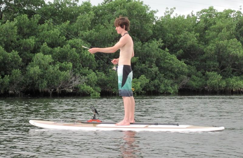 paddle board fishing