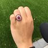 3.27ctw Burma No-heat Ruby Cluster Ring, GIA cert 17