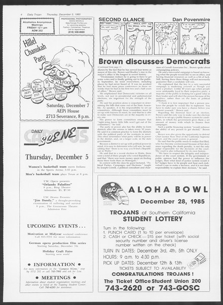 Daily Trojan, Vol. 100, No. 61, December 05, 1985
